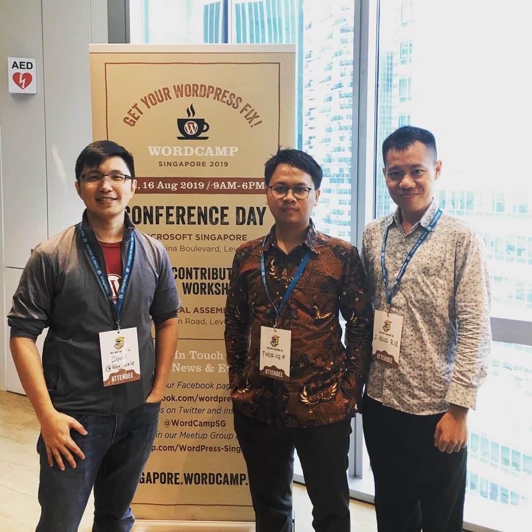 Das Kinsta-Team beim WordCamp Singapur