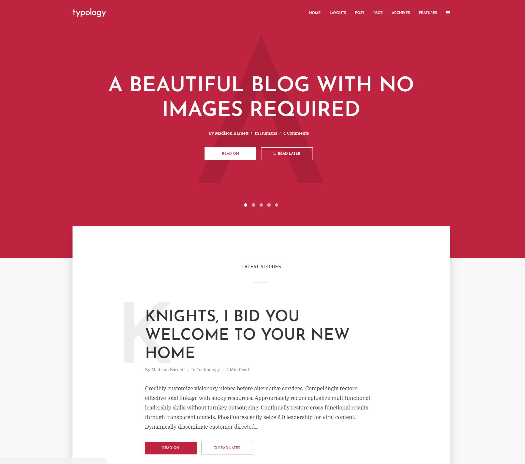 Typology WordPress-Theme