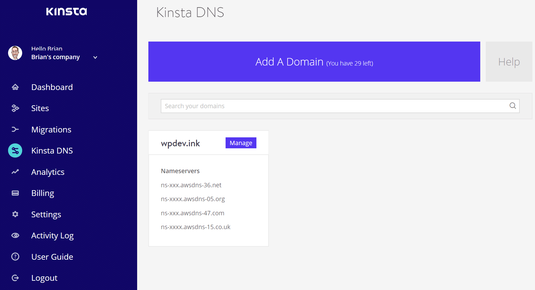 Kinsta DNS - Amazon Route 53