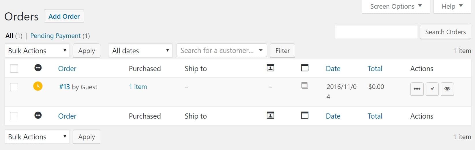 WooCommerce-Bestellungen