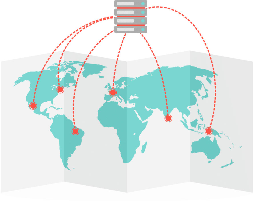 Geografische Website-Performance