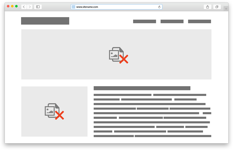 Leistungsschwache Websites