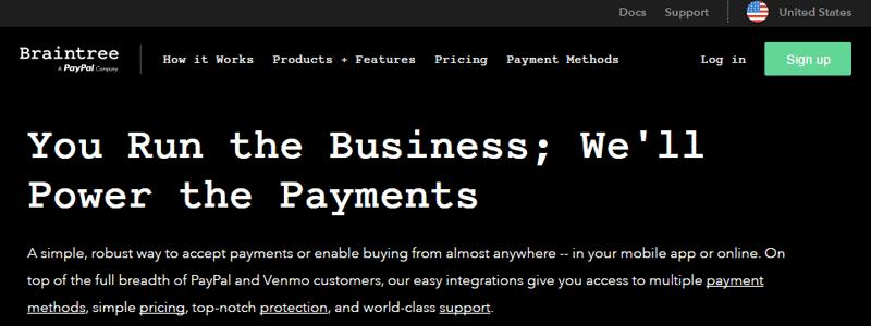 Braintree ist ein PayPal-Unternehmen.