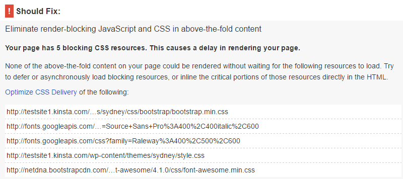 PageSpeed Einblicke mit Speed Booster Plugin