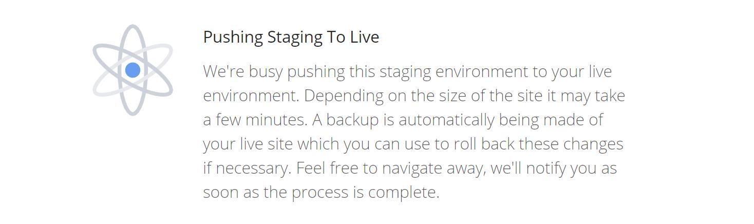 Staging-Seite live schalten
