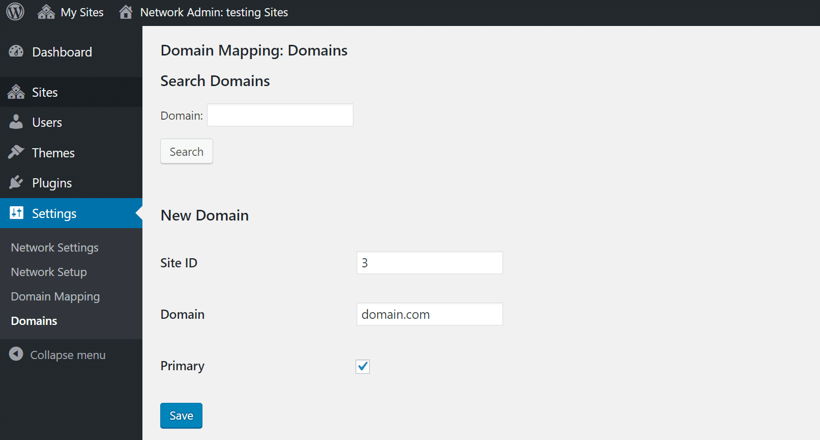Domain Mapping zur ID