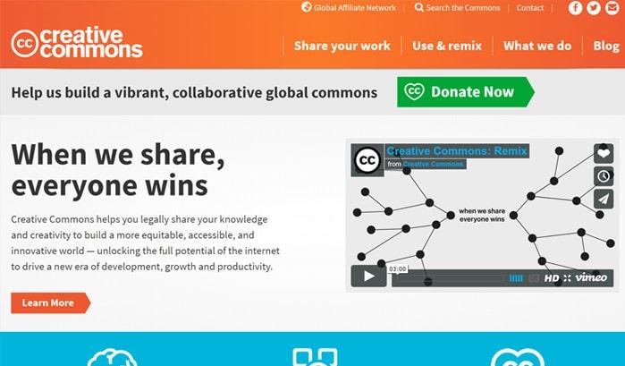 creative common wordpress seiten