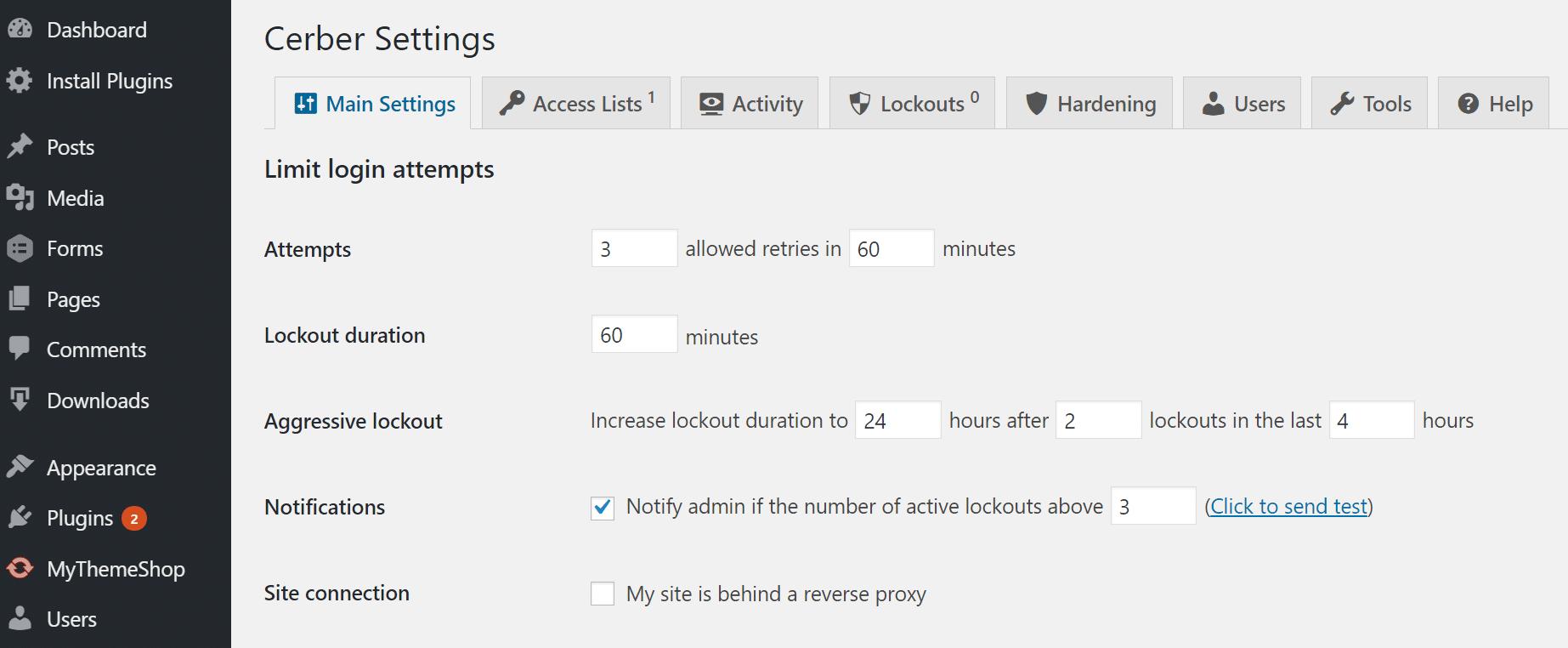 Einschränkung der Anmeldeversuche in WordPress