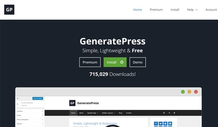 generatepress wordpress seiten
