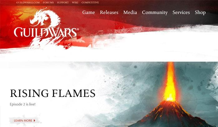 Guild Wars 2 WordPress seiten