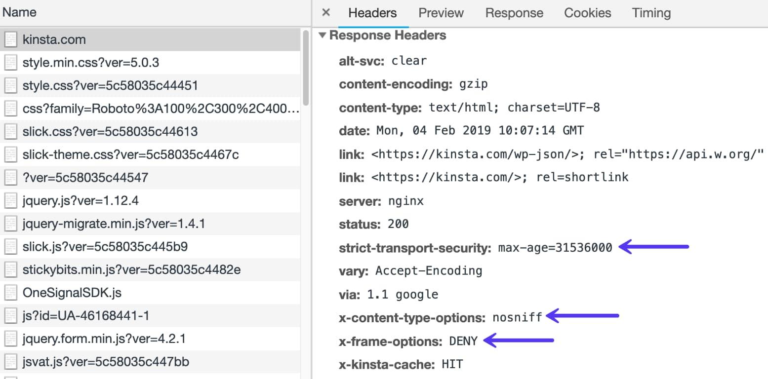 HTTP-Sicherheitsheader