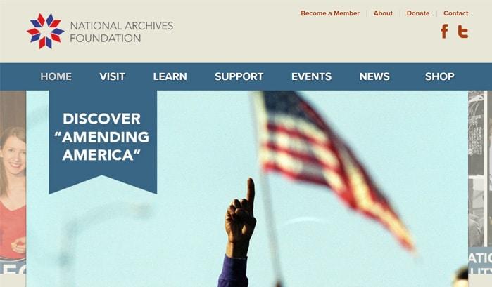 national archives foundation wordpress seiten