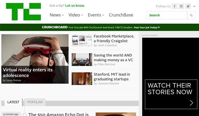 techcrunch wordress seiten