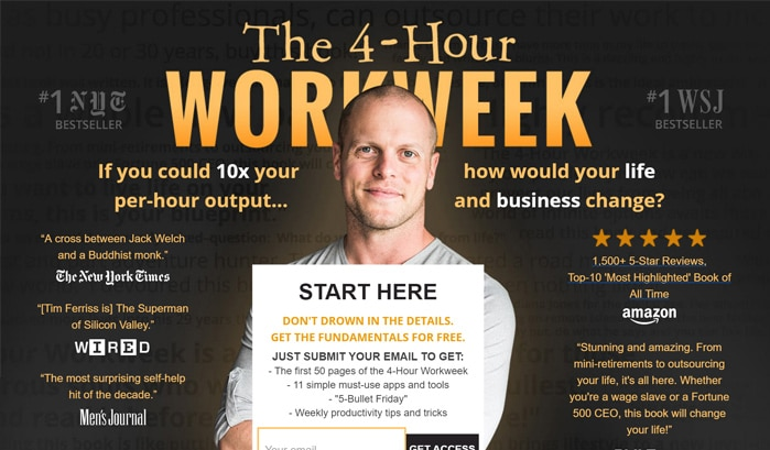 the four hour work week wordpress seiten