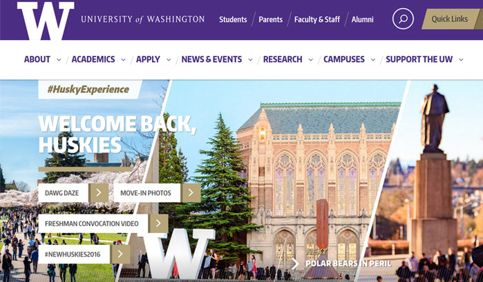 university of washington wordpress seiten