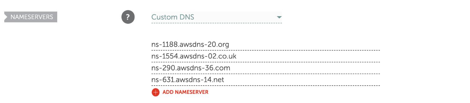 Namecheap custom DNS nameservers