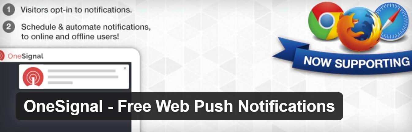 onesignal web push notifications plugin
