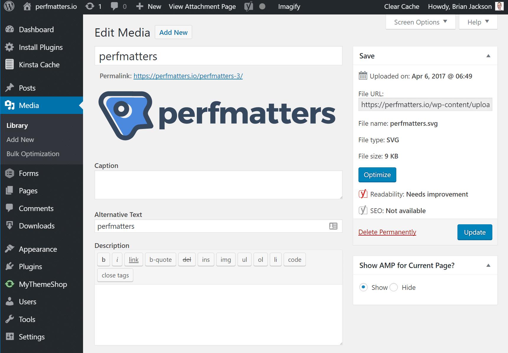 SVG in der WordPress-Medienbibliothek