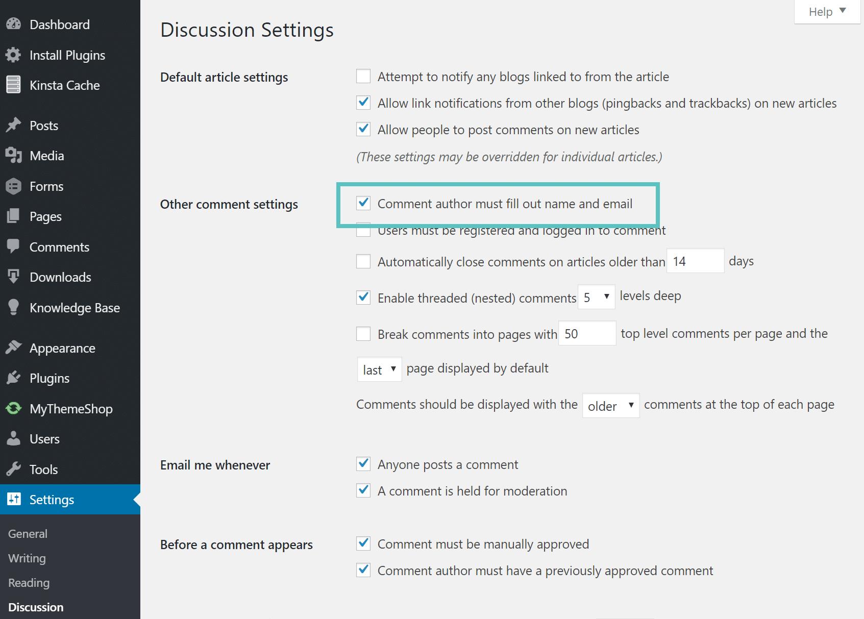 Anonyme Kommentar in WordPress deaktivieren