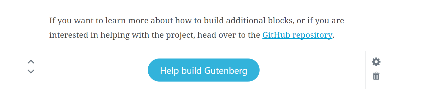 Gutenberg-Button