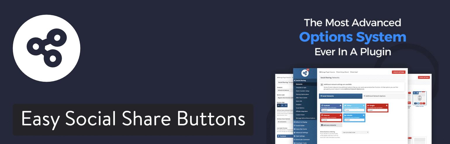Easy Social Share Buttons für WordPress plugin