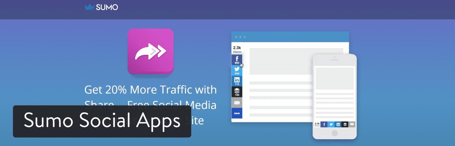Sumo Social Apps WordPress plugins