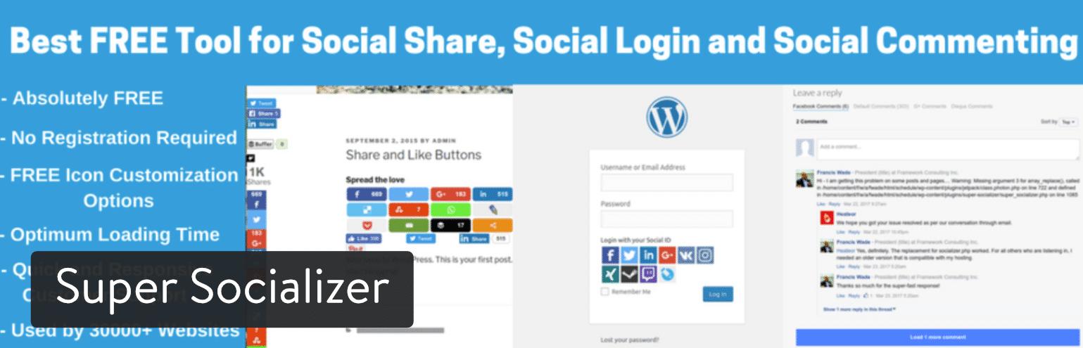 Super Socializer WordPress plugin