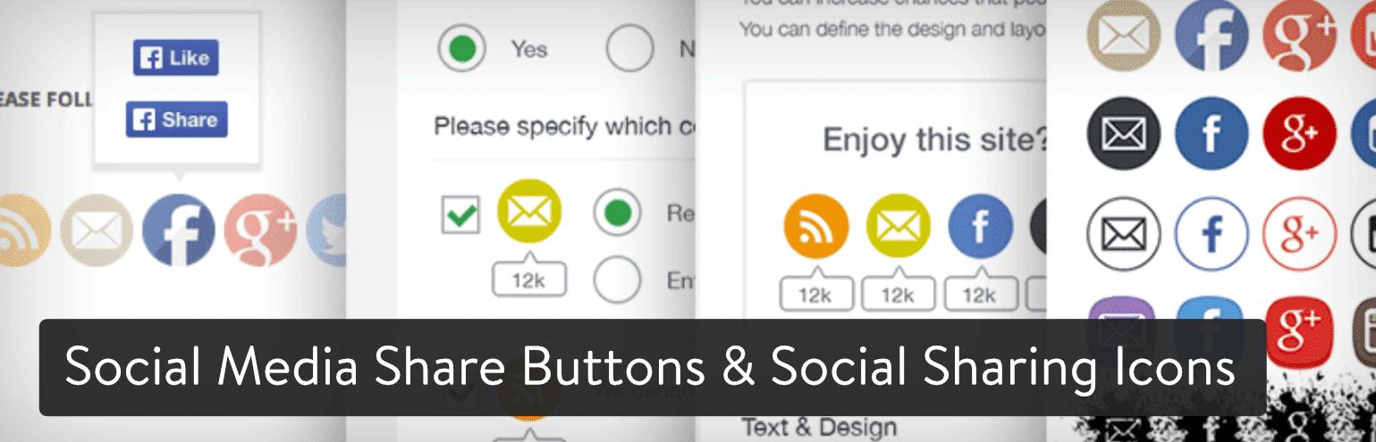 Social Media Share Buttons & Social Sharing Icons WordPress plugin