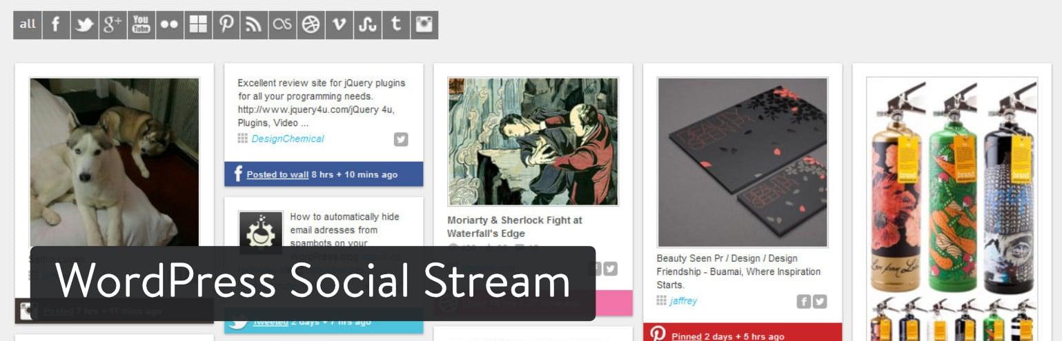 WordPress Social Stream plugin