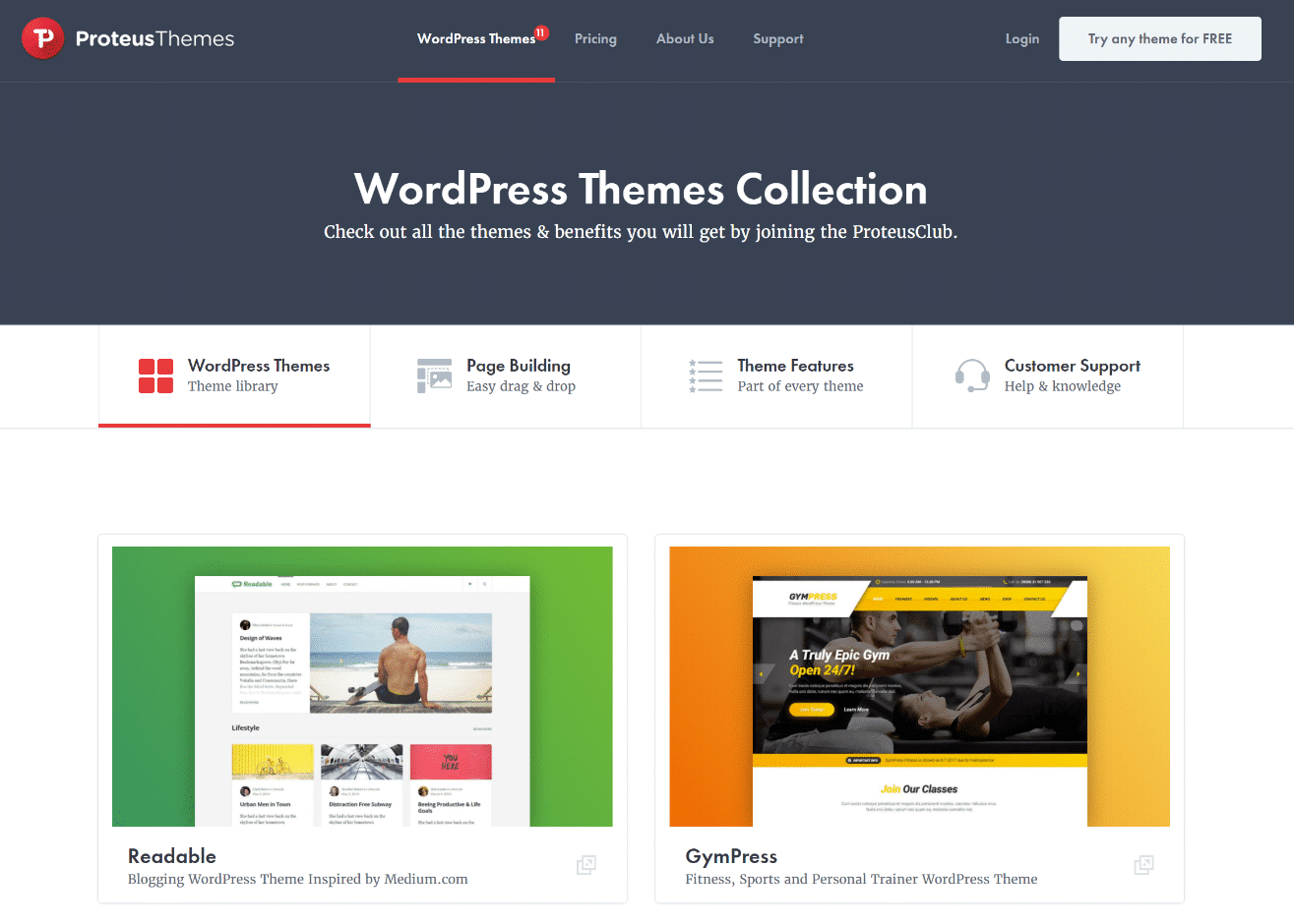 WordPress Theme Shop