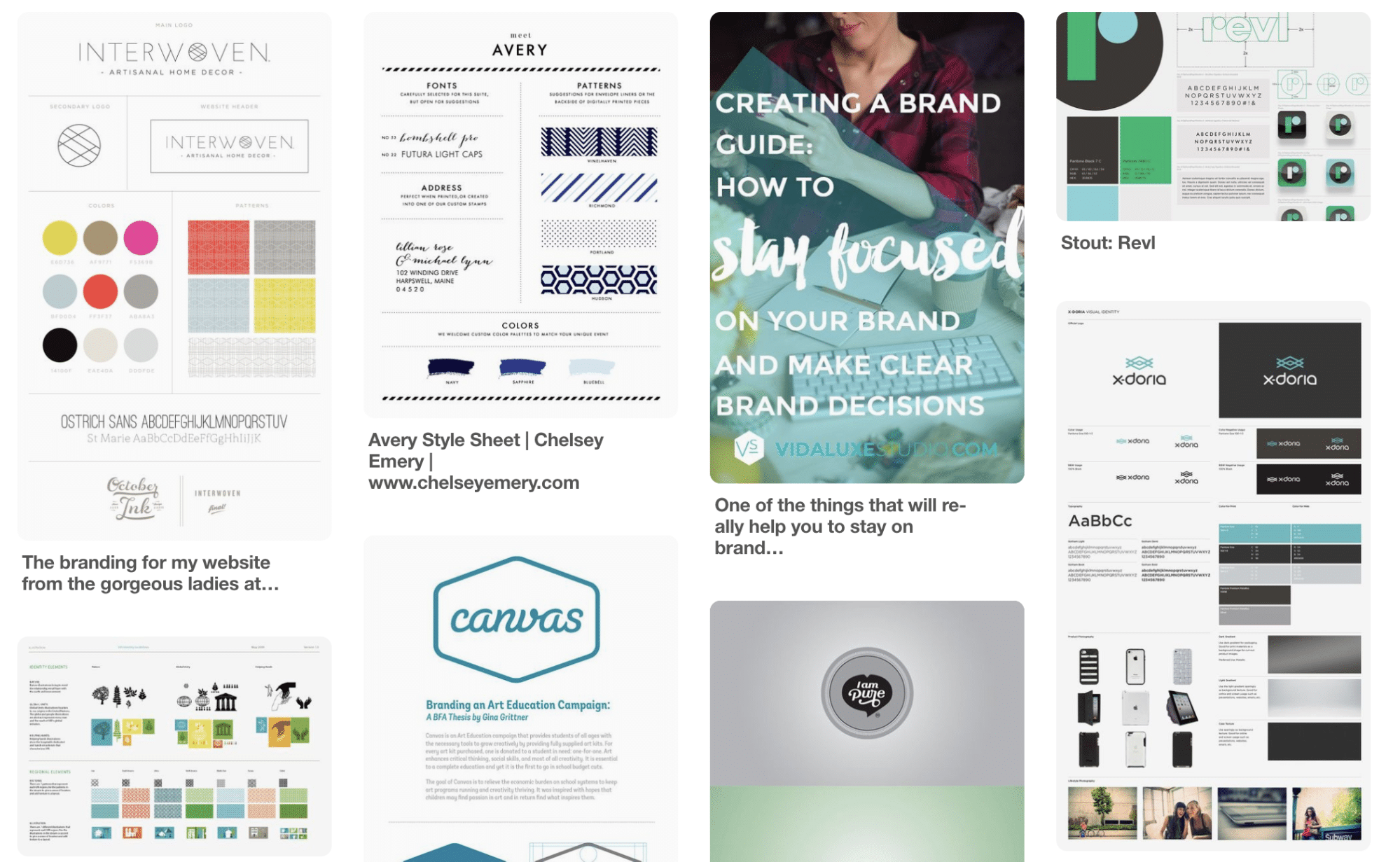 Branding-Boards auf Pinterest