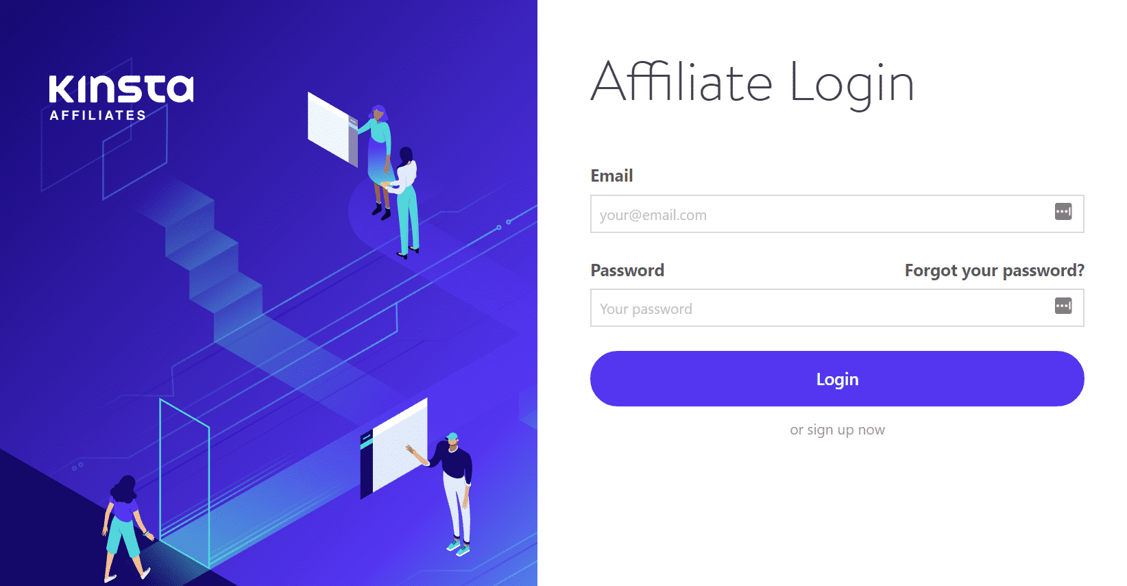 Login - Kinsta-Affiliateprogramm