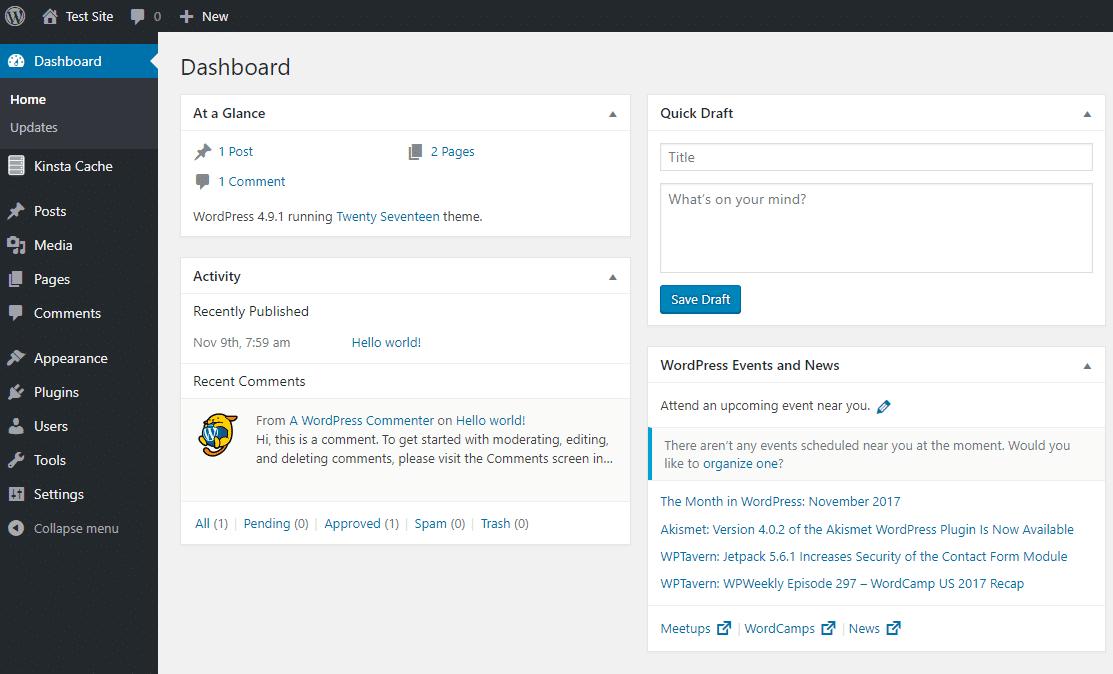 Das WordPress-Dashboard
