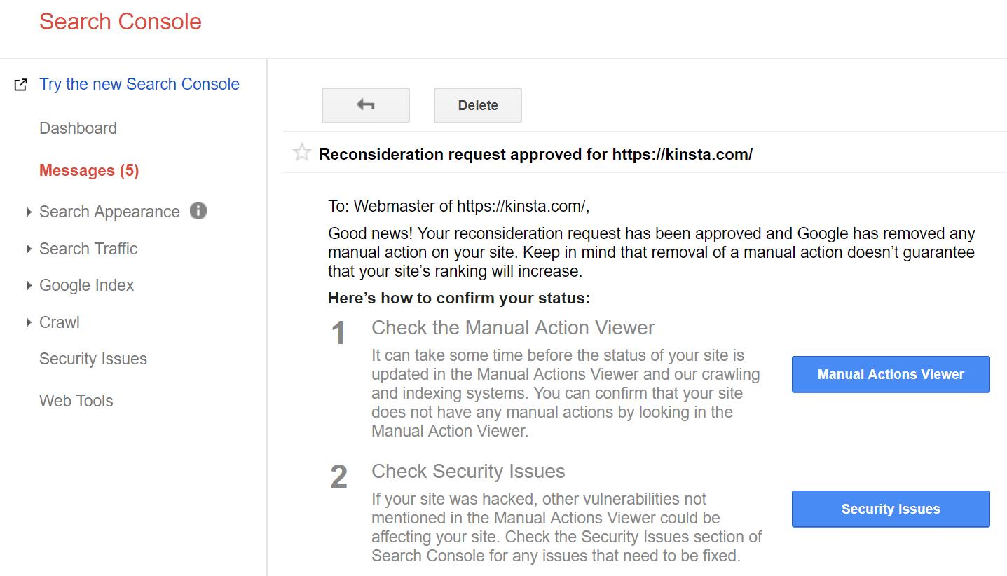 Überprüfungsantrag genehmigt