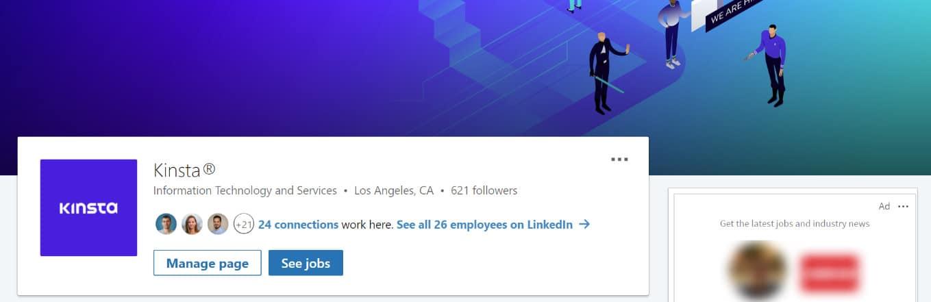 Kinsta LinkedIn