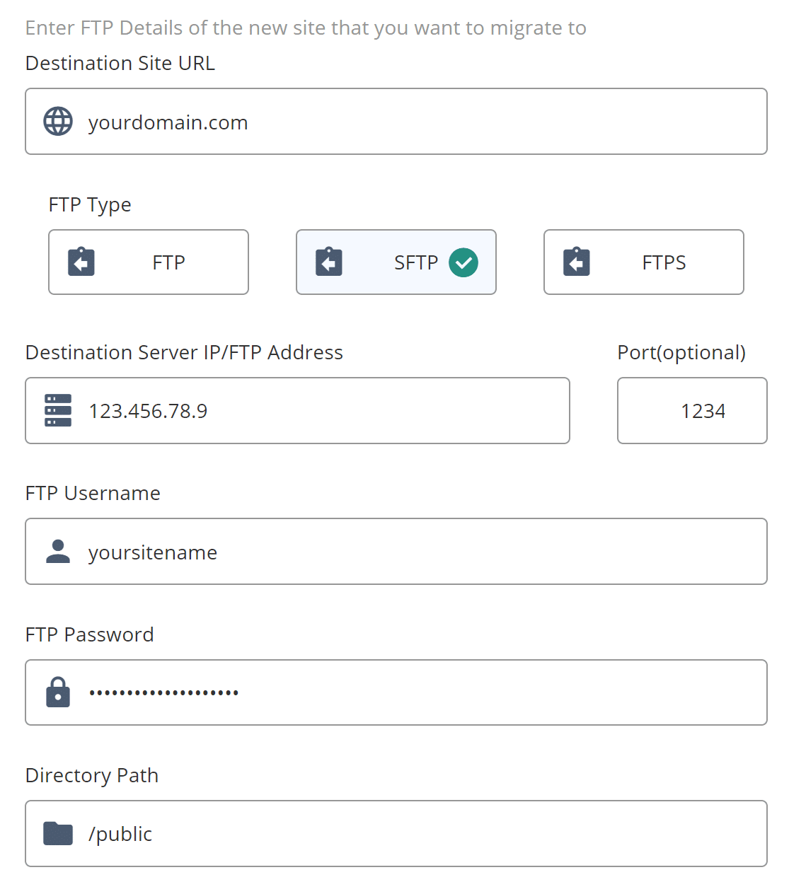Achte darauf, dass alle Details korrekt sind. Wiederholte fehlgeschlagene Verbindungsversuche können einen IP-Bann auslösen.