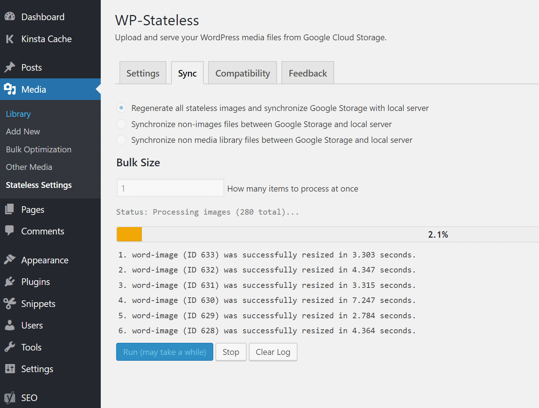 WP-Stateless Sync