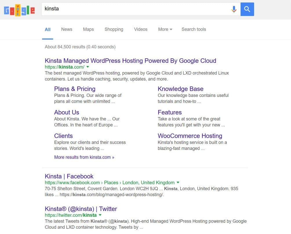 Ranking von Social Media-Profilseiten