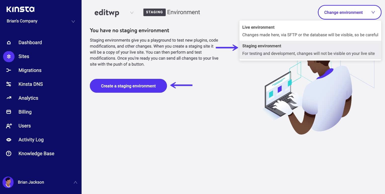 Eine WordPress Staging Seite erstellen