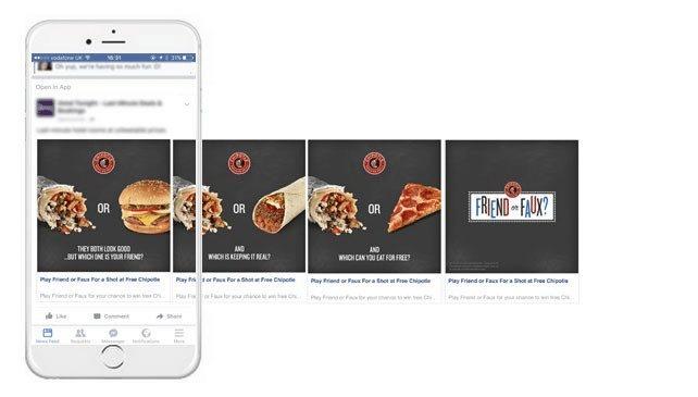 Facebook-Karussell-Werbung