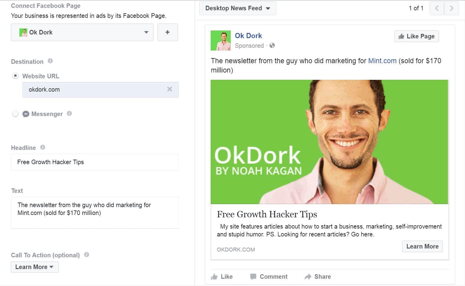 Facebook Werbekampagne