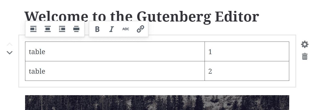 Gutenberg-Tabelle