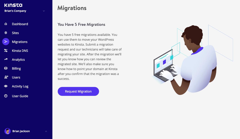 WordPress Migration anfordern