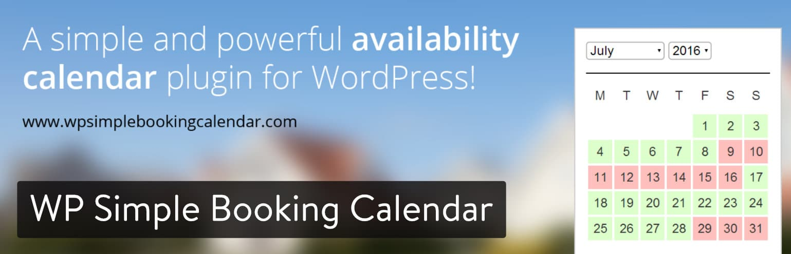 WP Simple Booking Calendar Plugin