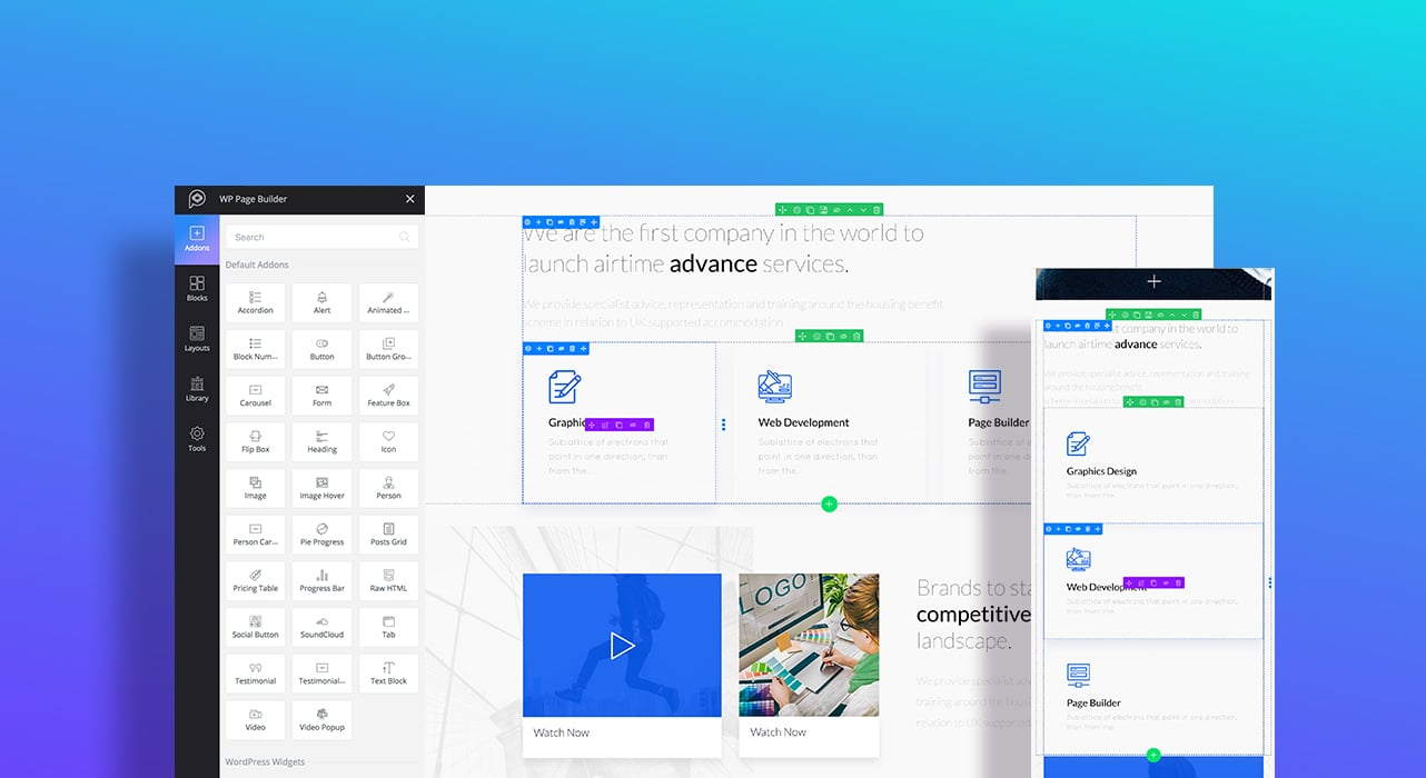 WP Page Builder Responsive