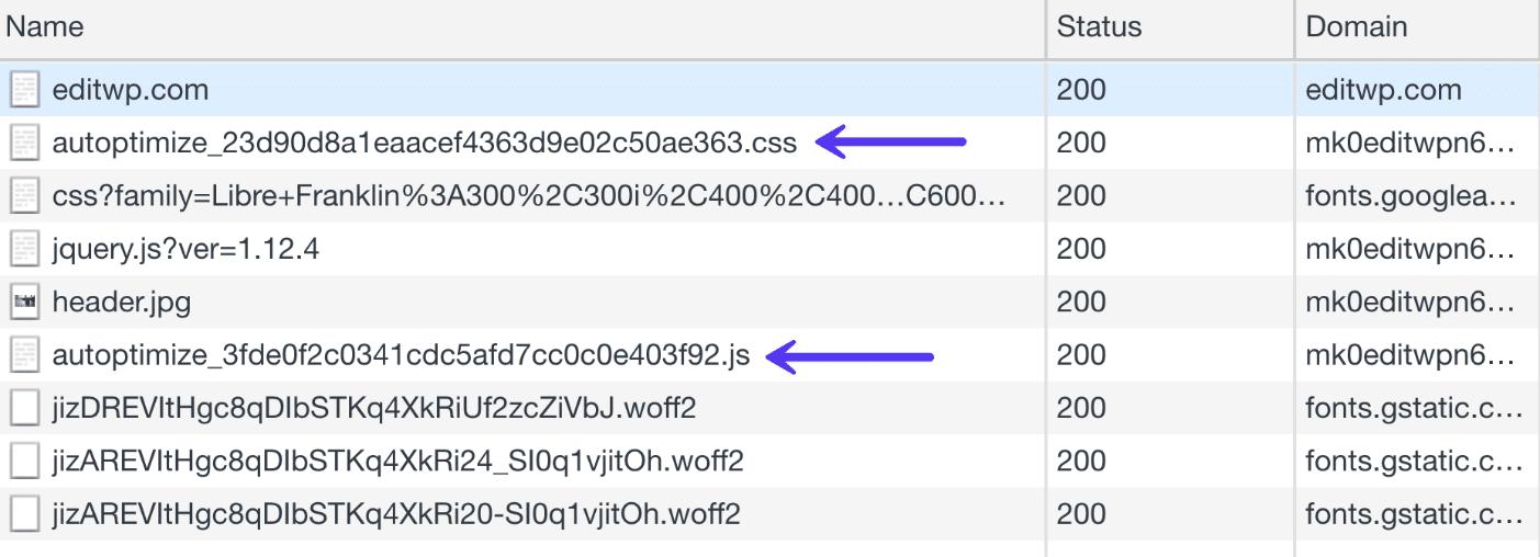 Kombination aus CSS und Javascript Dateien