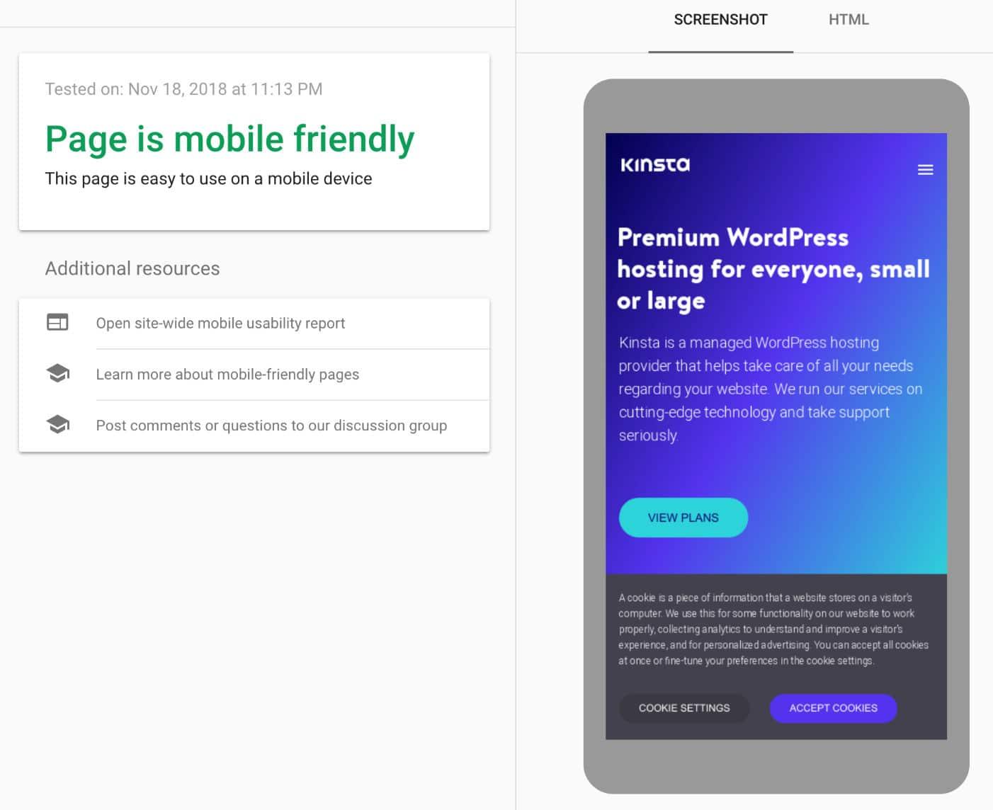 Test auf Mobiligerätfreundlichkeit