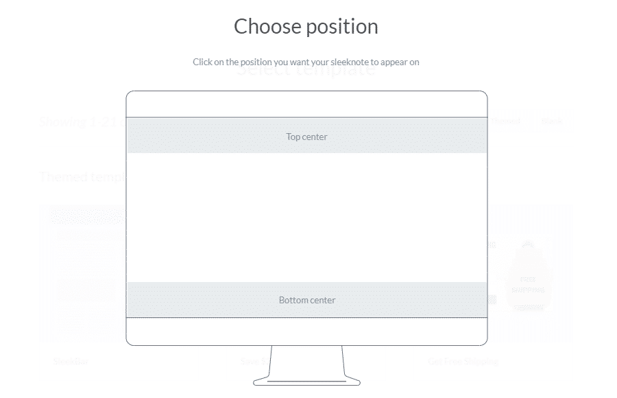 Sleeknote position