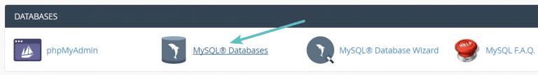 cPanel MySQL Datenbanken