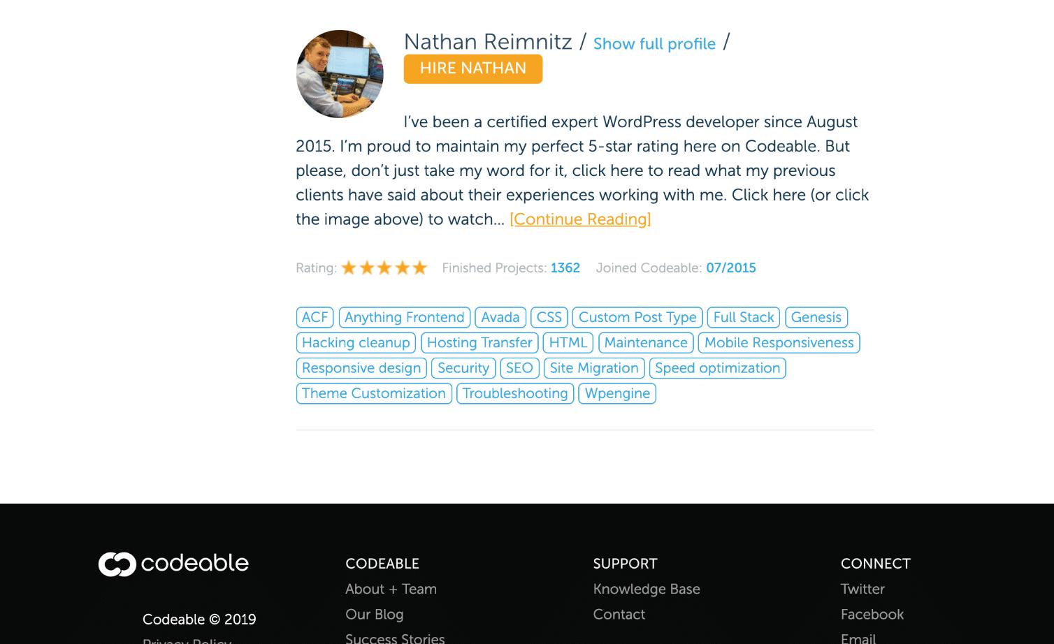Einstellung von WordPress Designer/Entwickler